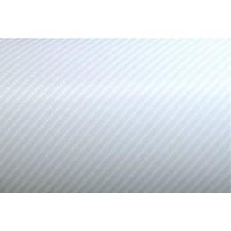 BLANC 4D carbone AUTOCOLLANT vinyle imitation  pour relooking meuble rénovation