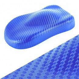 BLEU  3D carbone autocollant film adhésif vinyle relookage meuble, auto, moto