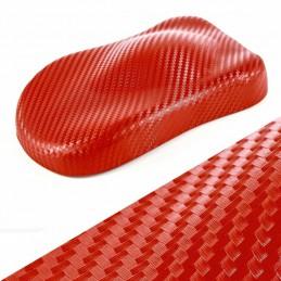 ROUGE 3D carbone autocollant vinyle adhésif film décoration meuble relookage