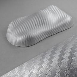 ARGENT  3D carbone autocollant film adhésif vinyle relookage meuble déco auto moto