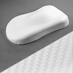 BLANC  3D CARBONE AUTOCOLLANT vinyle adhésif auto moto déco relookage meuble