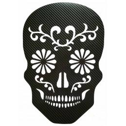 TETE DE MORT STICKERS EN CARBONE 6D pour interieur et exterieur, carrosserie, mural, etc...