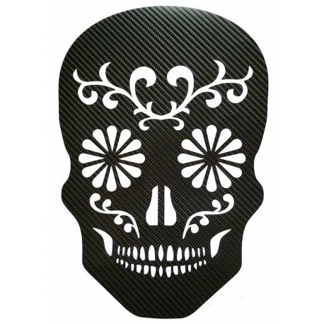 STICKERS  : TETE DE MORT TRIBAL