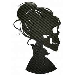 STICKERS  : FEMME SQUELETTE