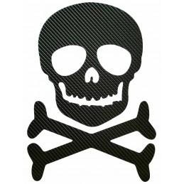 STICKERS  6D : TETE DE MORT SKULL pour interieur et exterieur, carrosserie, mural, etc...