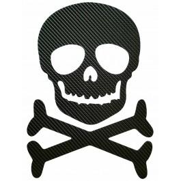 STICKERS  : TETE DE MORT SKULL