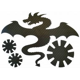 STICKERS  6D : DRAGON SOLEIL JAPONAIS pour interieur et exterieur, carrosserie, mural, etc...