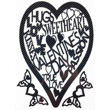 STICKERS  : Coeur Valentin Amoureux