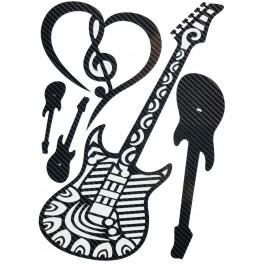 STICKERS  : Guitare Tribal musique