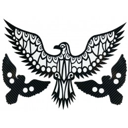 Aigle royal tribal STICKERS CARBONE 6D  pour interieur et exterieur, carrosserie, mural, etc...