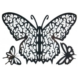 STICKERS  : PAPILLON DE NUIT TRIBAL