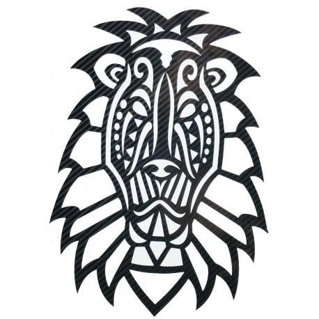 STICKERS  : TETE DE LION TRIBAL