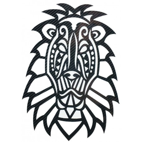 STICKERS  : TETE DE LION TRIBAL