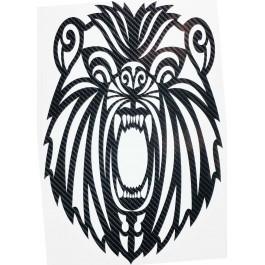 STICKERS  : TETE DE LION JEUNE TRIBAL