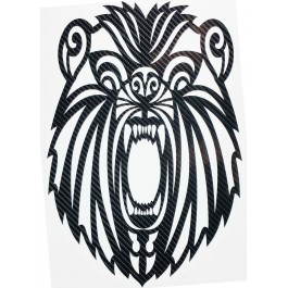 STICKERS  : TETE DE LION JEUNE TRIBAL