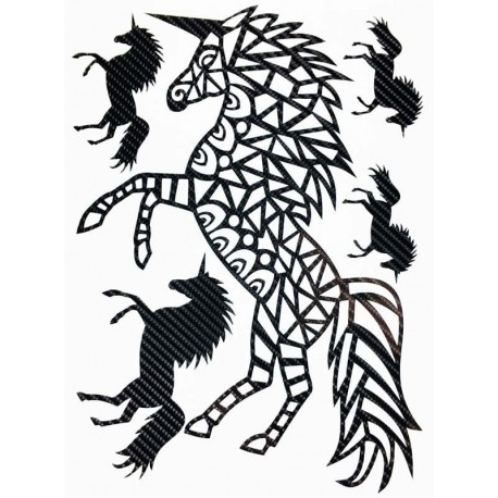 STICKERS  : LICORNE TRIBAL