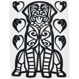 STICKERS  : GRAND CHIEN TRIBAL