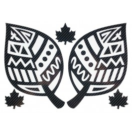 STICKERS  : FEUILLES TRIBAL