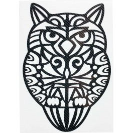 STICKERS  : HIBOU TRIBAL