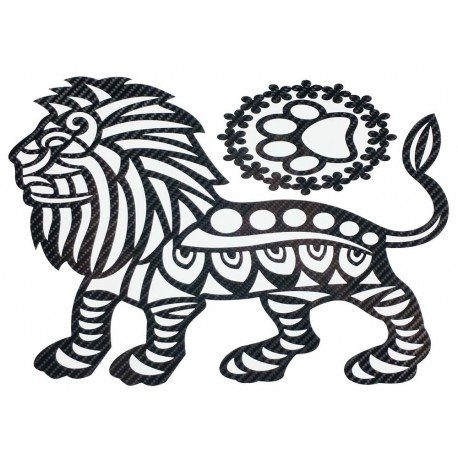 STICKERS  : LION TRIBAL PROFIL