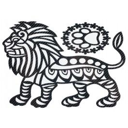STICKERS  : LION TRIBAL PROFIL