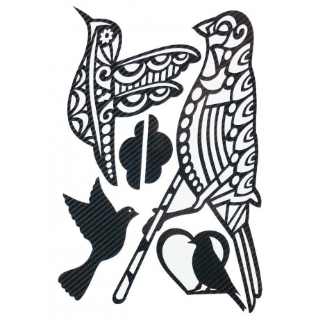 STICKERS  : OISEAUX TRIBAL