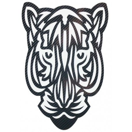 STICKERS  : TETE DE TIGRE TRIBAL