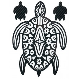 STICKERS  : TORTUE TRIBAL