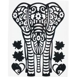 ELEPHANT STICKERS EN CARBONE 6D pour interieur et exterieur, carrosserie, mural, etc...