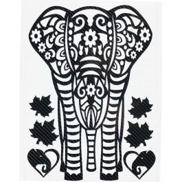 STICKERS  : ELEPHANT TRIBAL