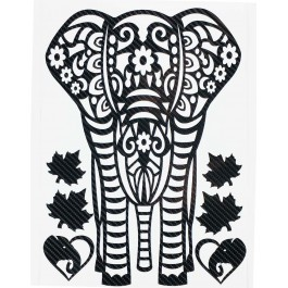 STICKERS  : ELEPHANT TRIBAL