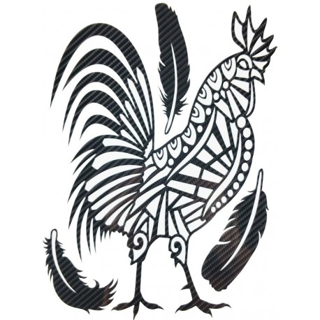 STICKERS  : TRIBAL COQ