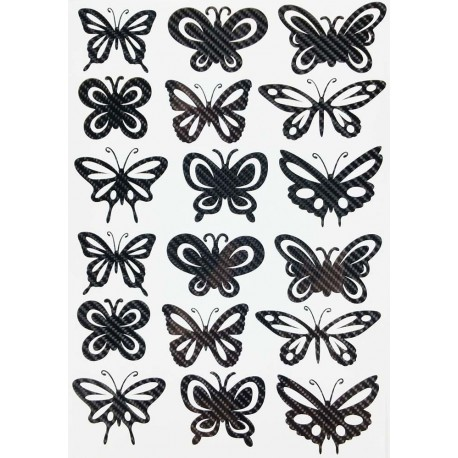 STICKERS  : PAPILLON MULTIPLE