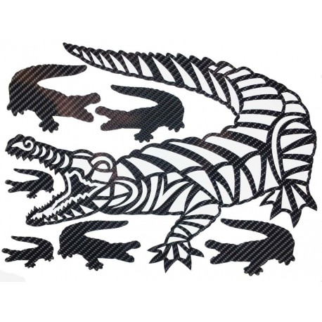 STICKERS  : CROCODILE TRIBAL