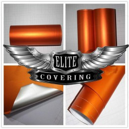ORANGE MAT METALLIQUE CHROME  Vinyle Adhésif AUTOCOLLANT habillage auto moto déco