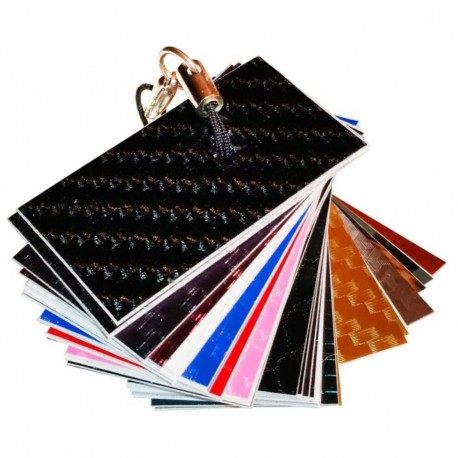 Echantillons NUANCIER 45 couleurs film adhésif relookage meuble, auto, moto