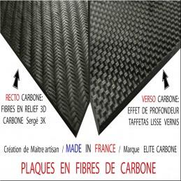 2,5mm - PLAQUE EN FIBRE DE CARBONE