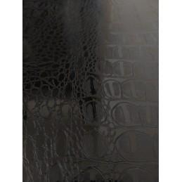 CROCODILE  NOIR BRILLANT vinyle autocollant pour relooking et restauration de meuble etc