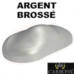 ARGENT / INOX Brossé vinyle adhésif imitation pour relooking auto moto etc
